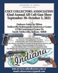 Colt Collectors Association 2021 Show Noblesville, Indiana 30 Sep - 3 Oct 2021
