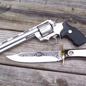 Anaconda and Colt Bowie